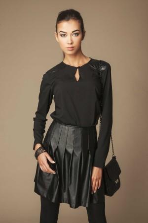 Bluza casual neagra de dama Ambigante