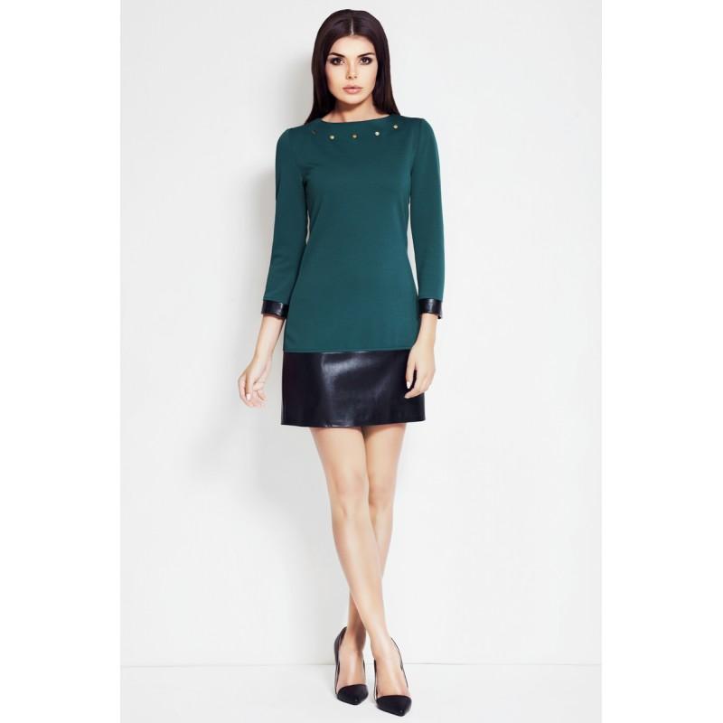 Rochie casual feminina de culoare verde Awama