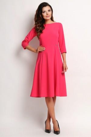 Rochie eleganta evazata Awama roz