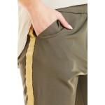 Pantaloni kaki casual-sport trei sferturi
