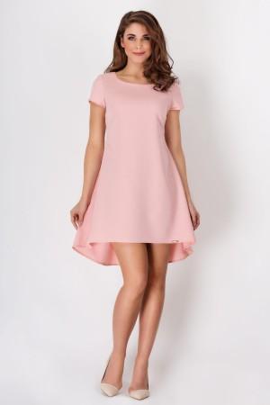 Rochie roz uni eleganta asimetrica lejera