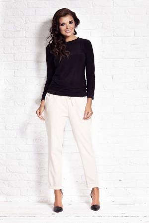 Bluza casual neagra de dama AWAMA