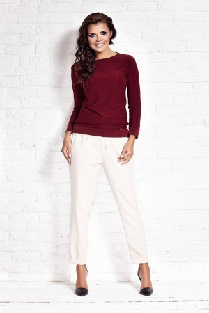 Bluza casual bordeaux de dama AWAMA