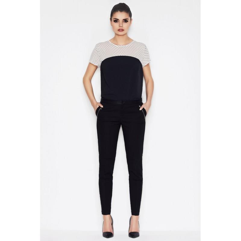 Bluza casual neagra crem de dama Awama