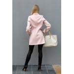 Palton dama lână roz