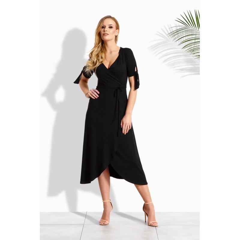 Rochie cu aspect petrecut cu cordon in talie neagra