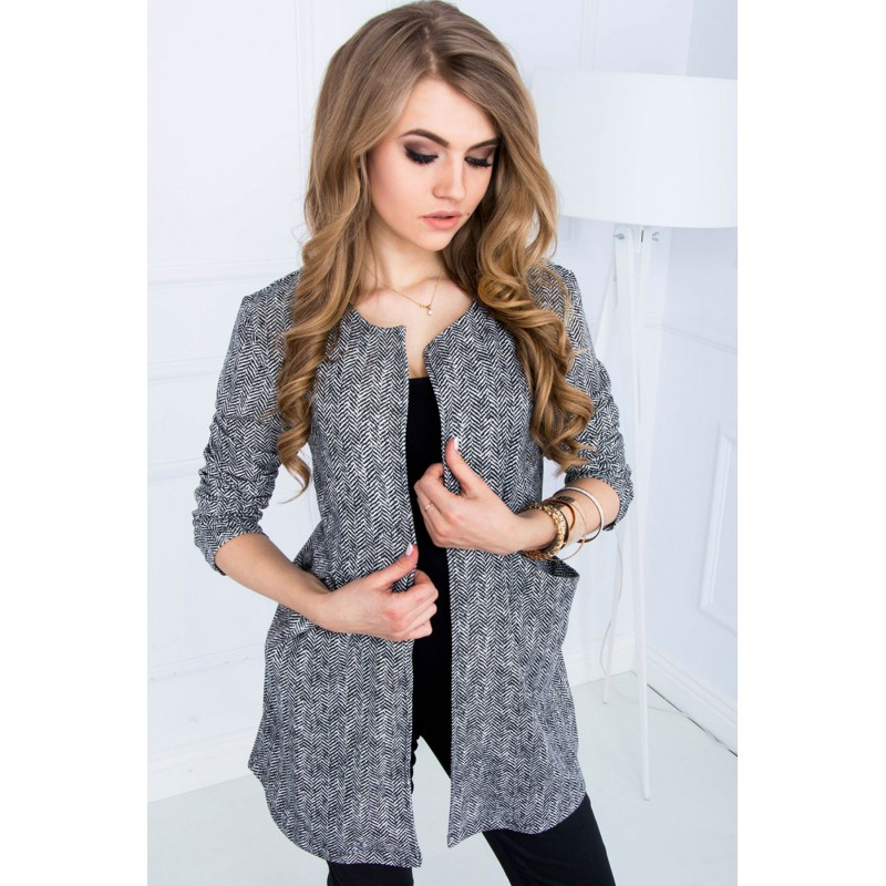 Cardigan in stil Chanel model spic