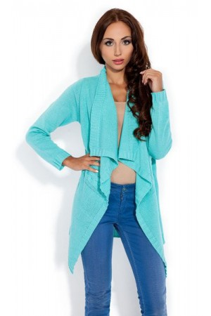 Cardigan dama asimetric mint