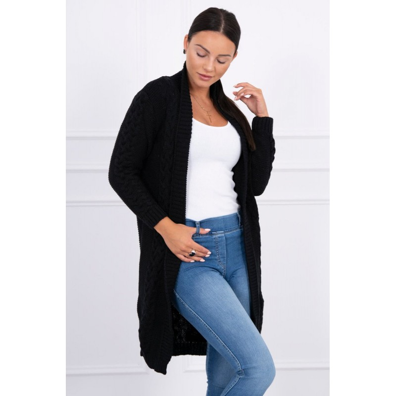 Cardigan negru lung