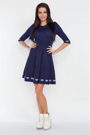 Rochie tricotata casual cu model decorativ de lungime mini