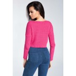 Bluza roz scurta lungime pana in talie Fobya