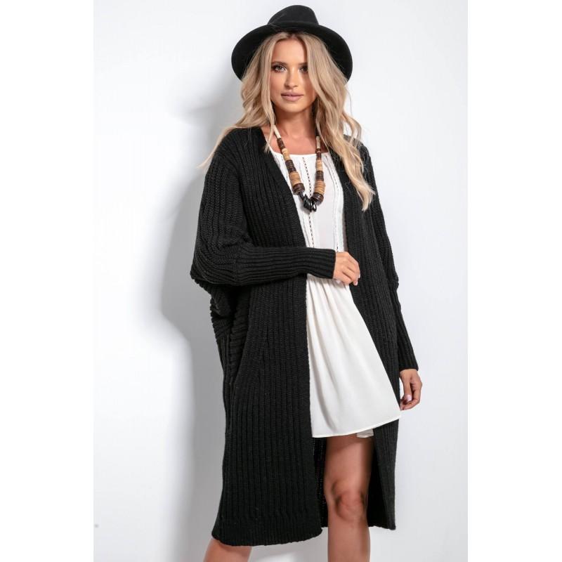 Cardigan clasic cu maneci lungi,elegant și confortabil negru