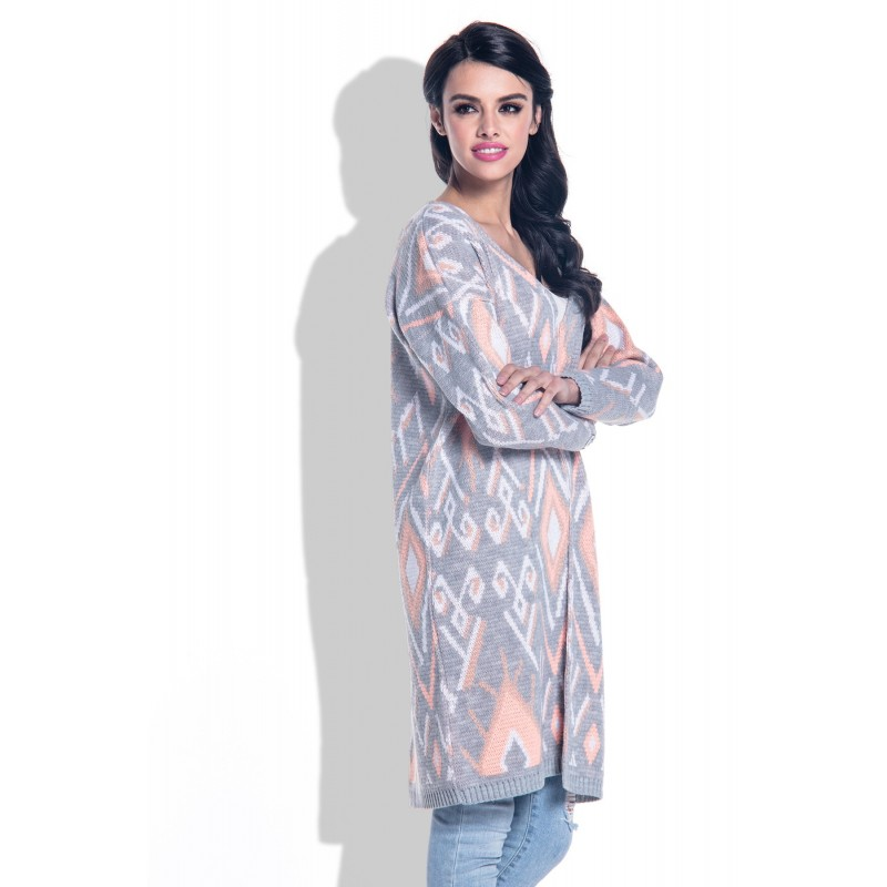 Cardigan de dama lung casual-sport peach