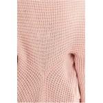 Cardigan dama tricotat elegant cu maneci lungi roz