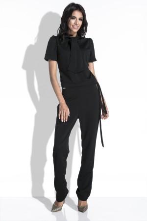Salopeta dama eleganta neagra cu funda supradimensionata