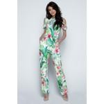 Salopeta dama cu model floral tropical