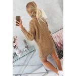 Rochie tricotata cu lungime mini cappuccino