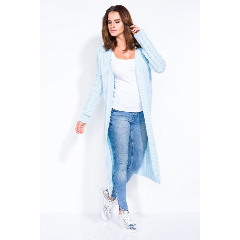 Cardigan de dama in trend lung blue
