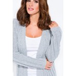 Cardigan de dama in trend lung gri