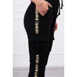 Pantaloni cargo dama negri cu buzunare