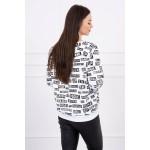 Bluza de dama imprimeu casual-sport alba