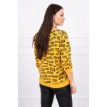 Bluza de dama imprimeu casual-sport mustar