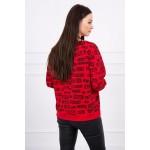 Bluza de dama imprimeu casual-sport rosie