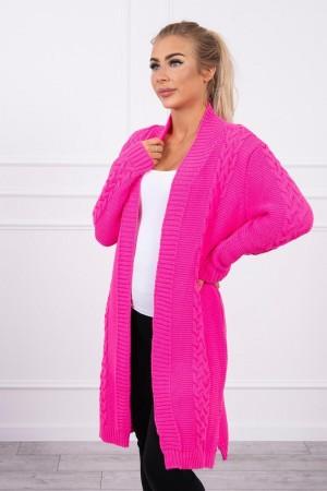Cardigan dama lung neon roz