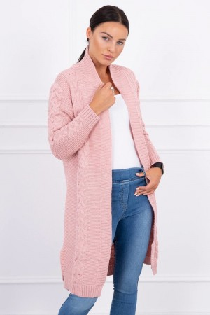 Cardigan lung dama roz