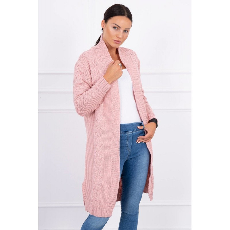 Cardigan lung dama roz
