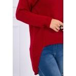 Pulover asimetric casual rosu