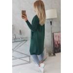 Cardigan de dama in trend lung verde