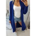 Cardigan lung de zi dama albastru
