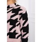 Trening dama tricotat din doua piese Roz
