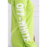 Rochie casual-sport cu gluga si buzunare verde