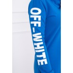 Rochie casual-sport cu gluga si buzunare albastra