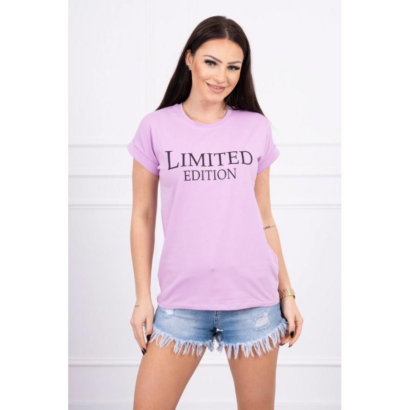 Tricou dama violet cu maneci scurte