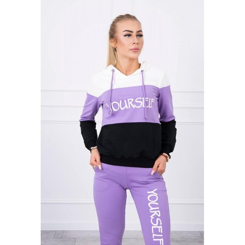 Trening bumbac dama sport-casual cu gluga 65456-1