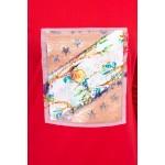 Rochie rosie mini cu imprimeu 3D-pasare