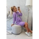 Rochie violet imprimeu text Day-Off