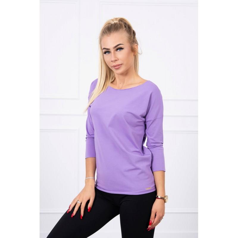 Bluza de dama cu maneci trei sferturi violet