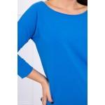 Bluza casual albastra cu maneci trei sferturi