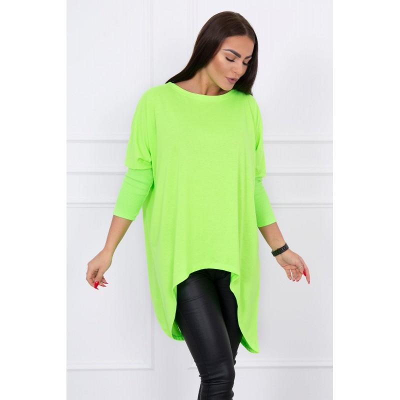 Bluza asimetrica si supradimensionata verde