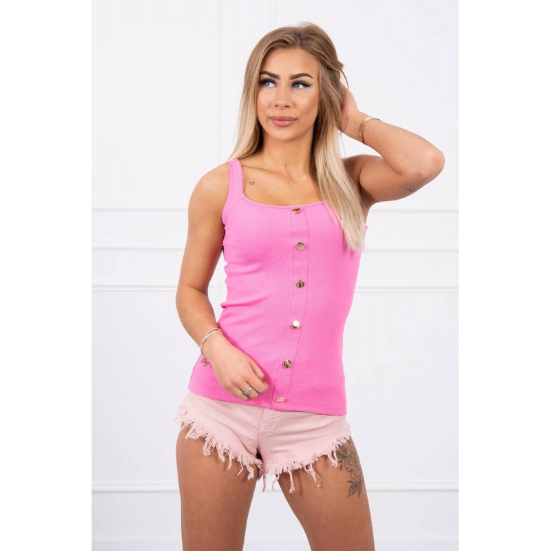 Top de dama roz cu nasturi