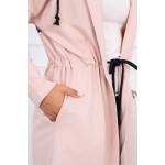 Hanorac de dama lung asimetric roz