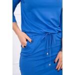 Rochie cu elastic in talie albastra