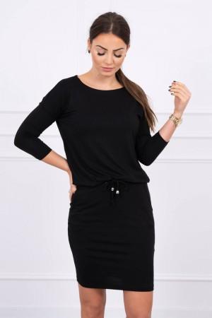 Rochie cu elastic in talie neagra