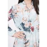 Rochie mini eleganta cu model floral 9041-4