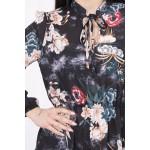 Rochie mini eleganta cu model floral 9041-2