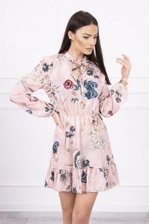 Rochie mini eleganta cu model floral 9041-3